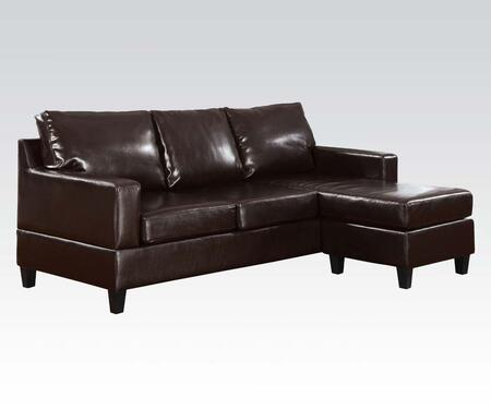 Acme Furniture 15915 Vogue Series Sofa and Chaise Bonded Leather Sofa