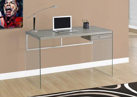 """Monarch I 720Y 48"""" Computer Desk with Thick Panels, Contemporary Design and Tempered Glass Legs"""
