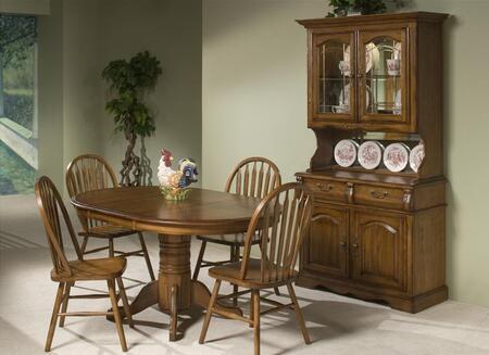 Intercon Furniture Classic Oak CO-TA-I4260 Dining Room Solid Oak Pedestal Table
