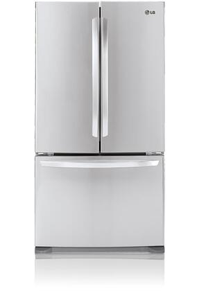 LG LFC25765ST  French Door Refrigerator with 24.9 cu. ft. Total Capacity 4 Glass Shelves