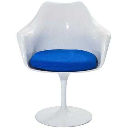 Modway EEI116BLU Lippa Series Modern Fabric Plastic Frame Dining Room Chair