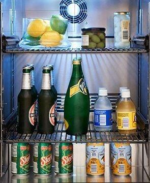 """Perlick HC24RB32x 24"""" C Series Indoor Compact Refrigerator with 5.2 cu. ft. Capacity, Digital Temperature Control, RapidCool Refrigeration System and Commercial Grade Stainless Steel Interior, in Panel Ready with"""