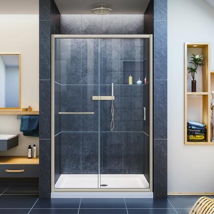 Infinity Z Shower Door 48 Brushed Nickel