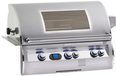 FireMagic E790I-4L1-W Echelon Diamond Series Built-in Grill, Digital Thermometer, Advanced Hot Surface Ignition, 792 Sq. In. Cooking Surface, Left Infrared Searing Burner, Magic View Window, 288 Sq. In. Warming Rack Surface, in Stainless Steel