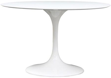 "Modway EEI-119 Lippa 48"" Fiberglass Dining Table with Modern Design, Fiberglass Construction, Scratch and Chip Resistant Finish"