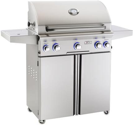 "The American Outdoor Grill 30PCL 30"" L-Series Freestanding Grill is built tough with heavy duty 304-grade stainless steel."