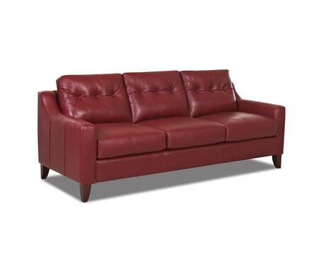 """Klaussner Audrina Collection LT31600-S- 88"""" Sofa with Foam Cushions, Button Tufted Back Cushions, Sloped Track Arms and Cowhide Upholstery in"""