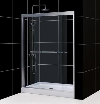DreamLine SHDR-1260728 Duet Bypass Sliding Shower Doors With 2 Towel Bars, Anodized Aluminum Wall Profiles, Guide Rails &
