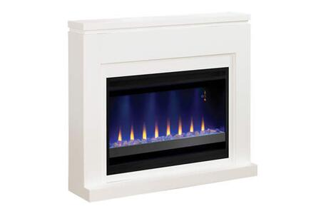 "Classic Flame 36WM 48"" Design Builders Mantel Only, with Contemporary or Traditional Design Options in Semi-Gloss White Finish"
