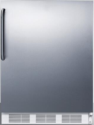 """AccuCold FF7xCSSADA 24"""" FF7BIADA Series ADA Compliant, Medical, Commercially Approved Freestanding or Built In Compact Refrigerator with 5.5 cu. ft. Capacity and Auto Defrost:"""
