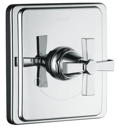 Kohler KT131733A Pinstripe Single Metal Cross Handle Thermostatic Valve Trim: