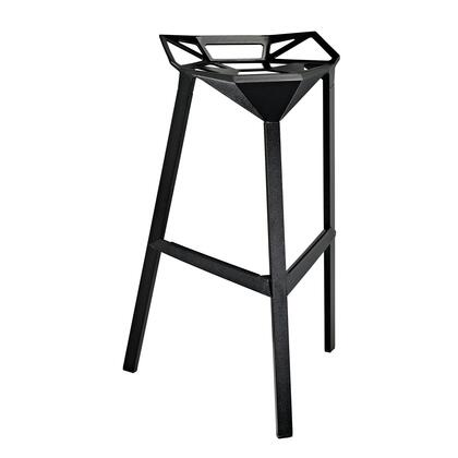 Modway EEI-1024 Launch Indoor/Outdoor Stacking Bar Stool with Modern Sleek Design, Easy Clean Surface, Non-Marking Feet, and Coated Aluminum Frame