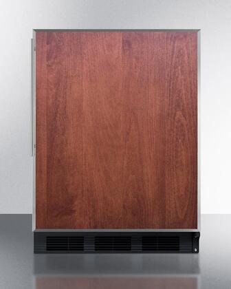 Summit FF63BFRADA Black Cabinet/Panel Ready SS Door Frame/Pro Handle  Compact Refrigerator with 5.5 cu.ft. Capacity