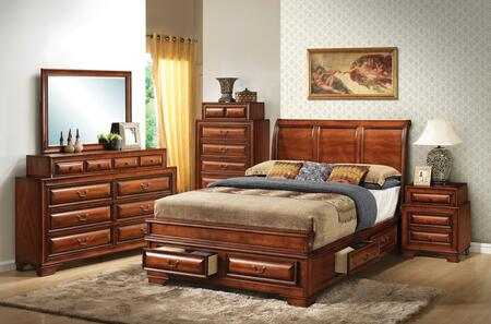 Glory Furniture G8850 5 Piece Full Size Bedroom Set