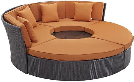 """Modway EEI2171EXPORASET 86.5"""" Water Resistant Outdoor Bed"""