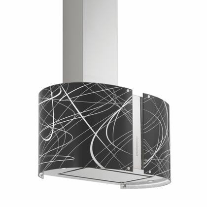 "Futuro Futuro IS27MURECHOX 27"" Murano Echo Series Range Hood offer 940 CFM, 4-Speed Electronic Controls, Delayed Shut-Off, Filter Cleaning Reminder, and in Stainless"