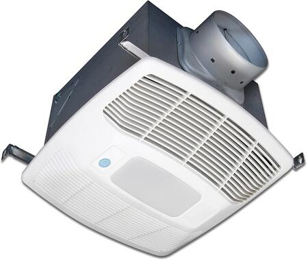 Air King EFxDG Two Speed Exhaust Fan with x CFM, Motion Sensor, Lighting, 23 Gauge Galvanized Steel Housing, and Polymeric Grill, in White