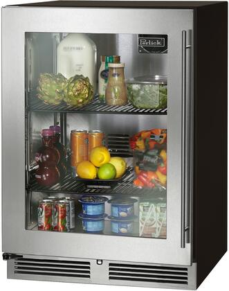 """Perlick HC24RB-3-4 HC24RB-3-4 24"""" C-Series Indoor Undercounter Refrigerator with 5.2 Cu. Ft. Capacity, Rapidcool Forced Air System, 525 BTU Commercial-Grade Compressor and UV-Coated Glass Door, in Panel Ready with"""