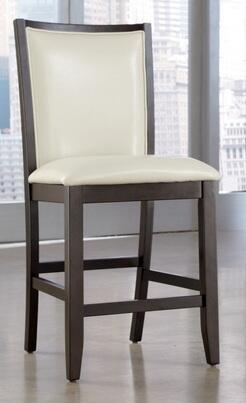 "Ashley D550 Trishelle 24"" Upholstered Bar stool with Dark Espresso Frame, Ash Veneer and Asian Hardwoods in"