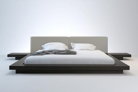 Modloft HB39AQWENGRY Worth Series  Queen Size Platform Bed   Appliances Connection