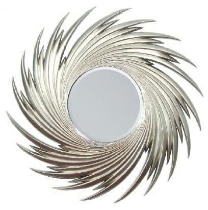 Acme Furniture 97060 Geena Series Round Both Wall Mirror