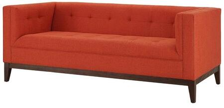 EdgeMod EM225WALBORA Huntington Series Fabric Stationary with Wood Frame Loveseat