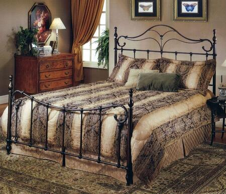 Hillsdale Furniture 1249BR Bennett Poster Bed Set with Rails Included, Elongated Finials and Cast Metal Construction in Antique Bronze Finish