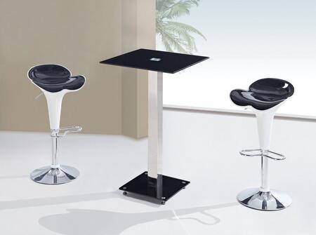 Global Furniture USA MD096BTM205BSWHBL3PCSET Bar Tables