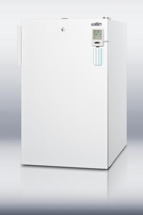 "Summit FS407LBIMEDDTADA20"" Medical Series Freestanding Upright Counter Depth Freezer"