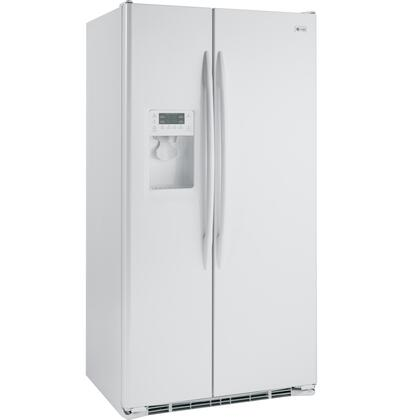 GE PSCF3RGXWW Freestanding Side by Side Refrigerator |Appliances Connection