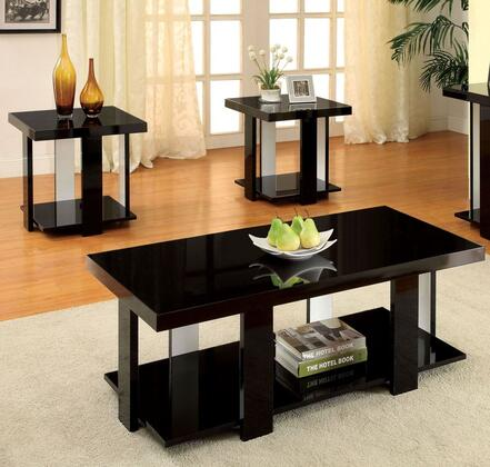 Furniture Of America Cm4240bk3pk Contemporary Living Room Table Set