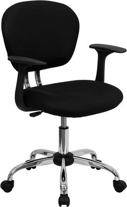 """Flash Furniture H2376FBKARMSGG 23.5"""" Contemporary Office Chair"""