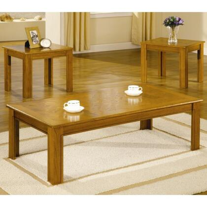 Coaster 516 3 Piece Parquet Top Occasional Table Set by Coaster Co.