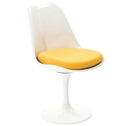 Modway EEI115YLW Lippa Series Modern Fabric Plastic Frame Dining Room Chair