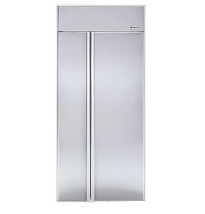 GE Monogram ZIS360NR Monogram Series Side by Side Refrigerator with 21.70 cu. ft. Capacity in Panel Ready