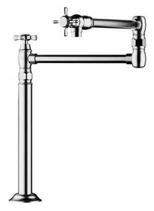 Hansgrohe 16860 Axor Montreux Deck Mount Pot Filler Faucet Includes both Cross and Lever Handles:
