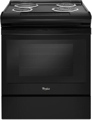 """Whirlpool WEC310S0Fx 30"""" Electric Range with 4 Coil Elements, 4.8 cu. ft. Capacity, Self Cleaning, Frozen Bake Technology and Storage Drawer, in"""