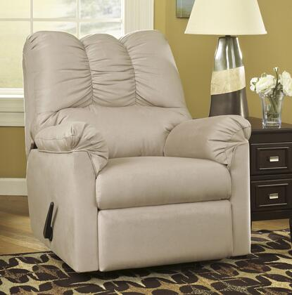 Signature Design by Ashley Darcy 7500X25 Rocker Recliner with Plush Padded Arms, Thick Divided Back Cushion and Metal Drop-In Unitized Seat Box in