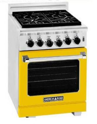 American Range ARR244LYW Heritage Classic Series Gas Freestanding Range with Sealed Burner Cooktop, 3.8 cu. ft. Primary Oven Capacity, in Yellow
