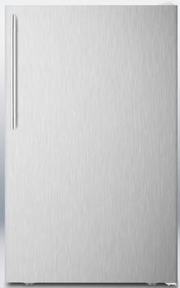 "Summit FF511LXSSX 20"" AccuCold Series ADA Compliant, Medical Compact Refrigerator with 4.1 cu. ft. Capacity, Automatic Defrost, Adjustable Shelves and Crisper Drawer:"