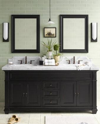 """Ronbow 062872-Torino 72"""" Wood Vanity Cabinet with Four Wood Doors, Three Center Drawers and Shelf Inside:"""