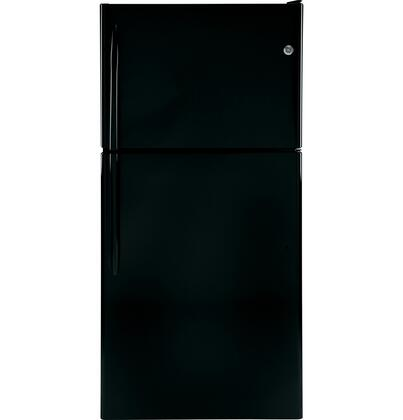 "GE GTH20JBBBB30"" Freestanding Top Freezer Refrigerator with 20 cu. ft. Total Capacity 3 Glass Shelves 5.78 cu. ft. Freezer Capacity 