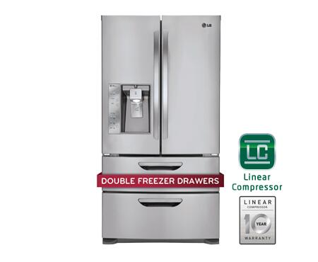 Lg Lmx31985st French Door Refrigerator With 30 5 Cu Ft