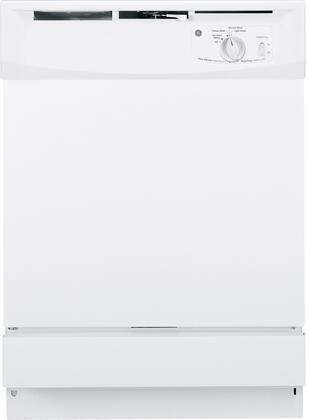 "GE GSD2100VWW 24"" Built In Full Console Dishwasher with 12 Place Settings Place Settingin White"