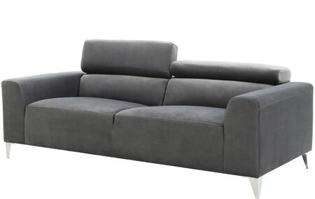 """Glory Furniture 79"""" Sofa with Chrome Legs, Adjustable Headrest, Track Arms, Split Back Cushion and Soft Velvet Like Micro Suede Cover in"""