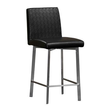 Diamond Sofa 164STBL  Leather Upholstered Bar Stool with Metal Frame in Black |Appliances Connection