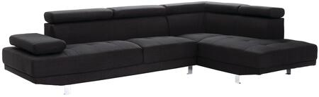 Glory Furniture G441SC Milan Series Curved Fabric Sofa