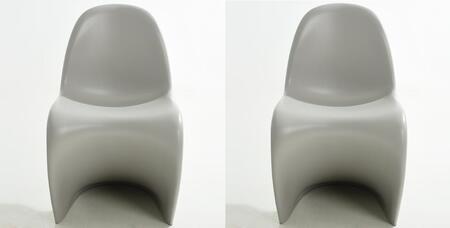 EdgeMod EM117LGRX2 S Series Armless Plastic Frame Accent Chair