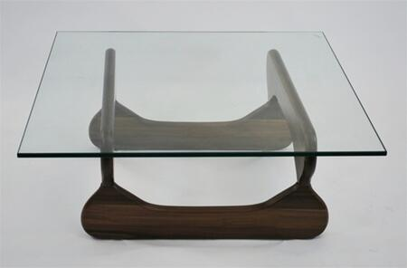 Fine Mod Imports FMI8005WALNUT Glass Modern Table