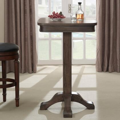 American Heritage 100533 Sarsetta Series Pub Table with Footed Pedestal, Oak Veneer Top, Rubberwood Base and Square Shaped Top: